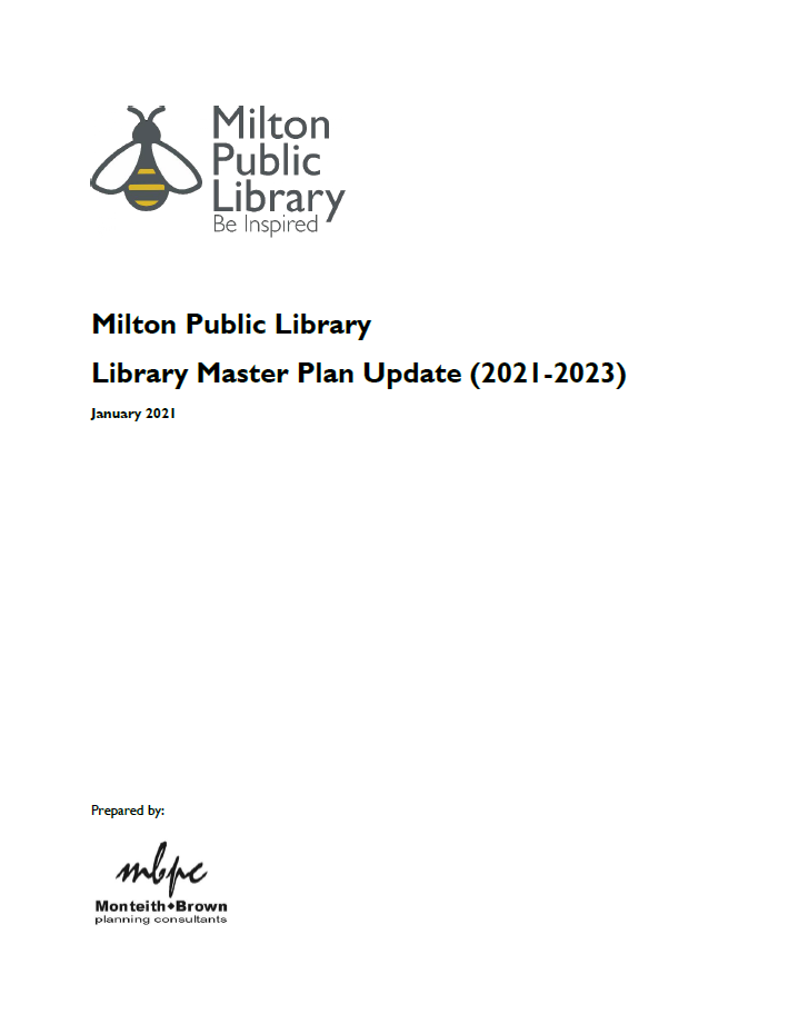 Cover of MPL Master Plan update